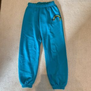 Light Blue Rainbow Lazy Pants